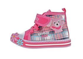 Kinder Knöchel Schuhe Kita halbhoch Leinen Hausschuhe Jungen Mädchen Klettverschluss Gr. 19-24 – Bild 10
