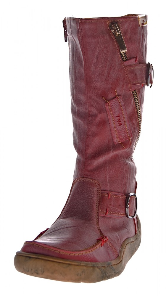 finest selection 55bc2 1c8b3 TMA Damen echt Leder Winter Stiefel Boots Schuhe flach warm gefüttert Used  Look TMA 3949 Gr. 36-42