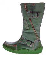 TMA Damen echt Leder Winter Stiefel Boots Schuhe flach warm gefüttert Used Look TMA 3949 Gr. 36-42 – Bild 6
