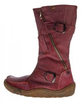 TMA Damen echt Leder Winter Stiefel Boots Schuhe flach warm gefüttert Used Look TMA 3949 Gr. 36-42 – Bild 11