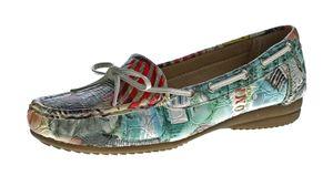 Damen Slipper flach Mokassins Boots Schuhe Sun & Shadow Kunst Leder Ballerinas Gr. 37-42 – Bild 1