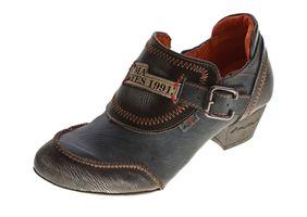 TMA Damen Leder Pumps Comfort Schuhe echt Leder Halbschuhe Used Look Trichter TMA 6166 Gr. 36 - 42 – Bild 2