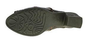 TMA Damen Pantoletten echt Leder Clogs Pumps Schuhe Sandalen Reptil Print TMA 1171 Gr. 36 - 42 – Bild 7