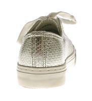 Damen Sneakers Glanz Halb Schuhe Schnürer Reptil Print Sneaker Gr. 36-41 – Bild 11