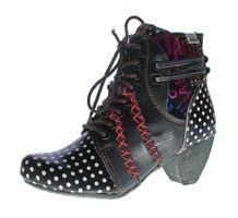 Damen Stiefeletten TMA 8979 echt Leder Stiefel Schuhe gepunktet Ziernähte Bunt Gr. 36-42 – Bild 1