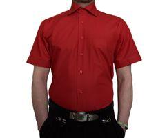Herren Designer Hemden B-Ware Freizeit Hemd TK11KAT Kurz Arm klassischer Kent Kragen 2. Wahl – Bild 5