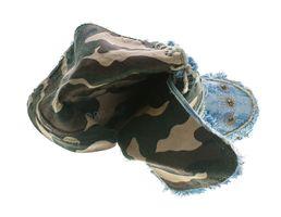 Damen Stiefeletten Keil Absatz Stiefel B-Ware Stoff Schuhe Batik-Look Muster variieren 36-41 2.Wahl – Bild 13