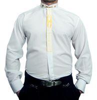 Designer Herren B-Ware Hemd PMS3PM Steh Kragen Hemden Lang Arm Stick Muster 2. Wahl – Bild 2