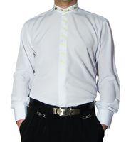 Designer Herren Steh Kragen Hemd B-Ware PMS1PM Hemden Lang Arm Stick Muster 2. Wahl – Bild 3
