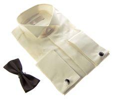 Designer Herren Hemden B-Ware Hochzeit Hemd Slim Fit Smoking Kragen Fliege PRS14PR Lang Arm 2. Wahl – Bild 5
