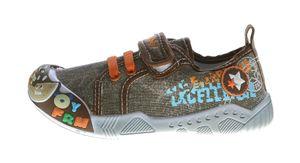 Kinder Leinen Schuhe Klettverschluss Kita Halbschuhe Jungen Mädchen Stoff Hausschuhe Größe 25 - 30 – Bild 10