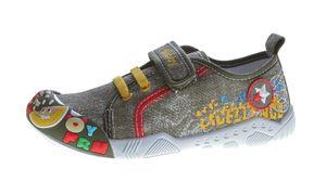 Kinder Leinen Schuhe Klettverschluss Kita Halbschuhe Jungen Mädchen Stoff Hausschuhe Größe 25 - 30 – Bild 4