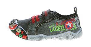 Kinder Leinen Schuhe Klettverschluss Kita Halbschuhe Jungen Mädchen Stoff Hausschuhe Größe 25 - 30 – Bild 5