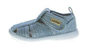 Kinder Sandalette geschlossen Junge Mädchen Freizeit Stoff Schuh Klettverschluss 19-24 – Bild 9