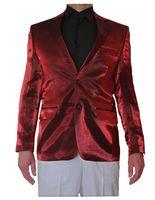 Designer Herren Glanz Sakko einzeln tailliert Hochzeit Glanz Smoking Jacke 2 Knopf Einreiher – Bild 4