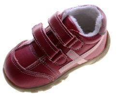 Leder Kinder Schuhe Baby Winter Halbschuhe Jungen Mädchen Turnschuhe gefüttert Schwarz Pink  – Bild 9