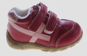 Leder Kinder Schuhe Baby Winter Halbschuhe Jungen Mädchen Turnschuhe gefüttert Schwarz Pink  – Bild 10