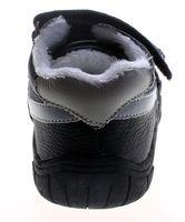 Leder Kinder Schuhe Baby Winter Halbschuhe Jungen Mädchen Turnschuhe gefüttert Schwarz Pink  – Bild 6