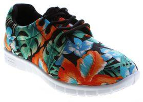 Damen Sneaker Leinenschuhe Halb Schuhe leicht flexibel bunt Muster Schnürer flach Größe 36 - 42 – Bild 2