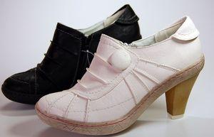 Damen Schuhe High Heels Schwarz Weiß Pumps Halb Schuh  – Bild 1