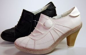 Damen Schuhe High Heels Schwarz Weiß Pumps Halb Schuh
