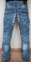 Designer Herren Blue Jeans Blau Crash Hose Kosmo Lupo K & M Hellblau Crashjeans – Bild 4