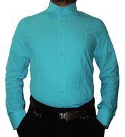Designer Herren Hemd klassischer Kragen New Kent 2 Knopf Herrenhemd Slim Fit tailliert Langarm – Bild 7