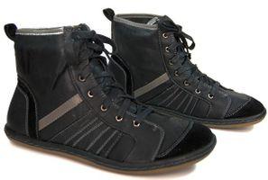 Stiefel Schwarz Schuhe Damen gefüttert Stiefeletten Knöchel Schuh  – Bild 1