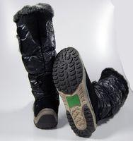 Damen Stiefel Schwarz Winter Schuhe Damenstiefel gefüttert Schuh voll warm – Bild 4