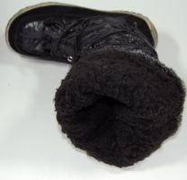 Damen Stiefel Schwarz Winter Schuhe Damenstiefel gefüttert Schuh voll warm – Bild 5