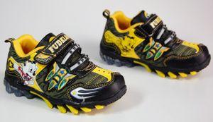 Kinder Schuhe Sport Schwarz Blau Rot Gelb Braun Halbschuhe  – Bild 9