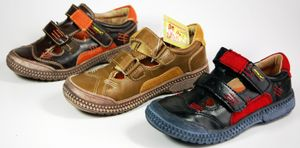 Kinder Schuhe Schwarz Braun Khaki offene Halbschuhe Sandalen