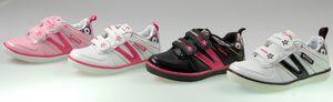 Kinder Sneaker Schuhe Mädchen Jungs Schwarz Weiß Rosa Pink Turn Sport Halbschuhe – Bild 1
