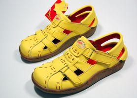 Leder Sandaletten Comfort Damen Sandale Schuh Rot Gelb Weiß Schwarz Beige Schuhe echt Leder Pantoletten Clogs – Bild 9