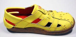 Leder Sandaletten Comfort Damen Sandale Schuh Rot Gelb Weiß Schwarz Beige Schuhe echt Leder Pantoletten Clogs – Bild 11