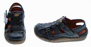 Leder Sandaletten Comfort Damen Sandale Schuh Rot Gelb Weiß Schwarz Beige Schuhe echt Leder Pantoletten Clogs – Bild 16