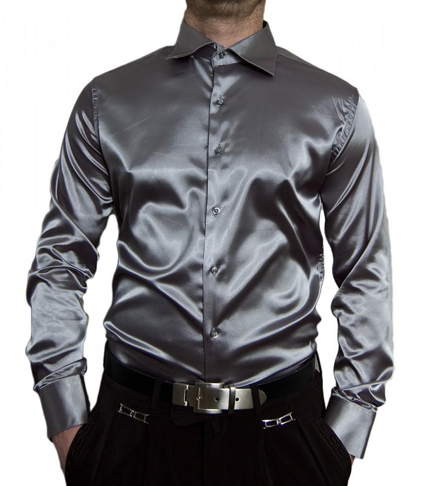 super popular 4f353 b7bee Designer Herren Glanz Hemd Slim Fit tailliert bügelleicht langarm Glanzhemd  eng geschnitten bunt