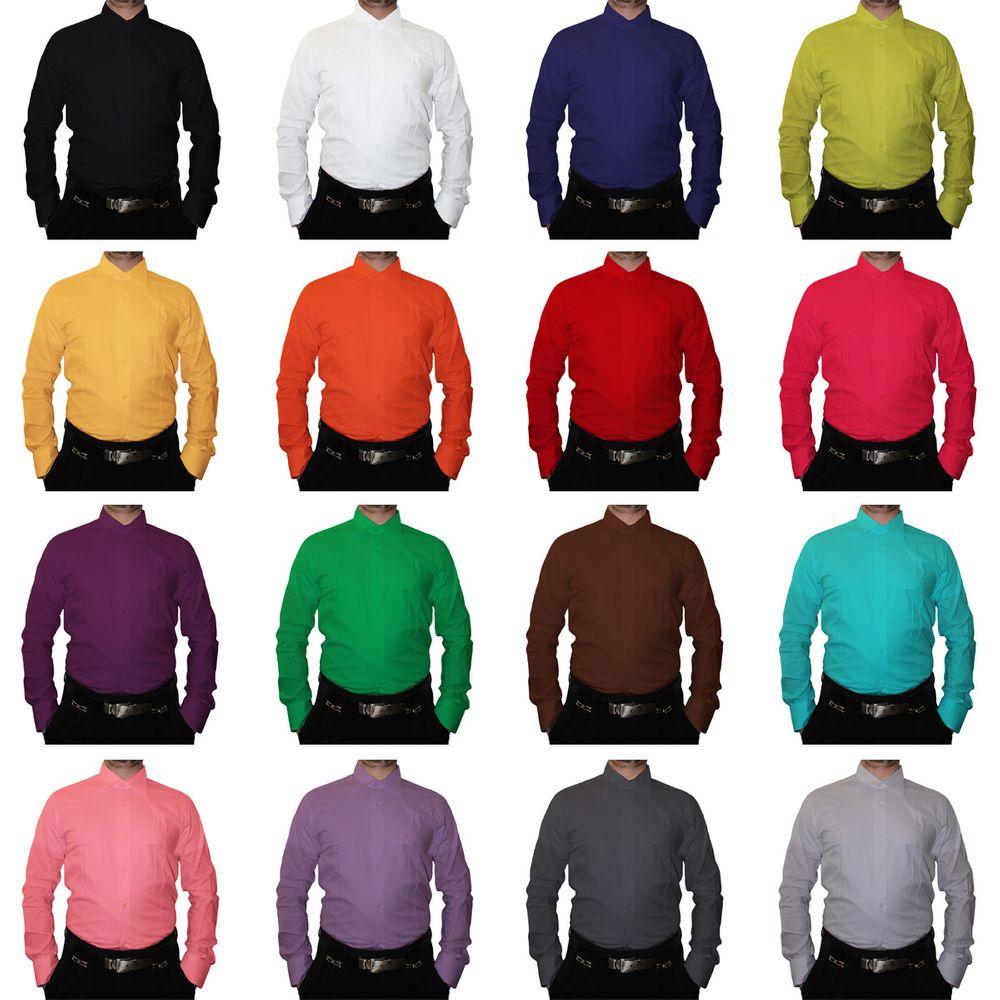 sneakers for cheap b084e 70410 Designer Herren Hemd klassischer Kragen Slim Fit tailliert Langarm K14  viele Farben