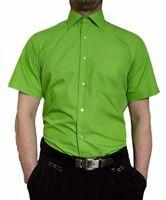 Designer Herren Kurz Arm Hemd Bügelfrei klassischer Kragen Herrenhemd Kentkragen viele Farben Kurzarm – Bild 14