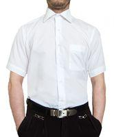 Designer Herren Kurz Arm Hemd Bügelfrei klassischer Kragen Herrenhemd Kentkragen viele Farben Kurzarm – Bild 4