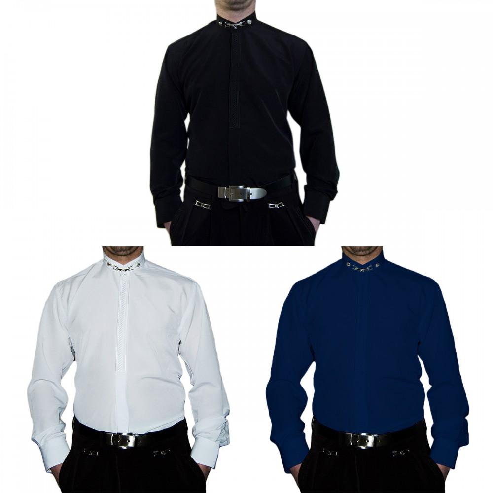Hochzeit Herren Stehkragen Hemd S6F Weiß Schwarz Blau Hochzeitshend ...