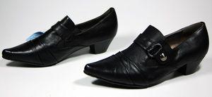 Damen Schuhe Pumps Schwarz Grau Lila Violett Damenschuhe Halbschuhe mit Absatz – Bild 2