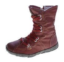 Leder Stiefeletten TMA 2013 Damen Weiß Schwarz Rot Knöchel Schuhe echt Leder Winter Stiefel gefüttert  – Bild 3