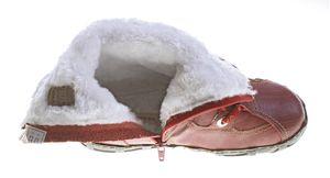 Leder Stiefeletten TMA 2013 Damen Weiß Schwarz Rot Knöchel Schuhe echt Leder Winter Stiefel gefüttert  – Bild 16