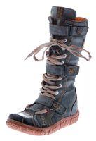 Leder Stiefel Damen Winter Schuhe gefüttert Damenstiefel TMA 7086 – Bild 2