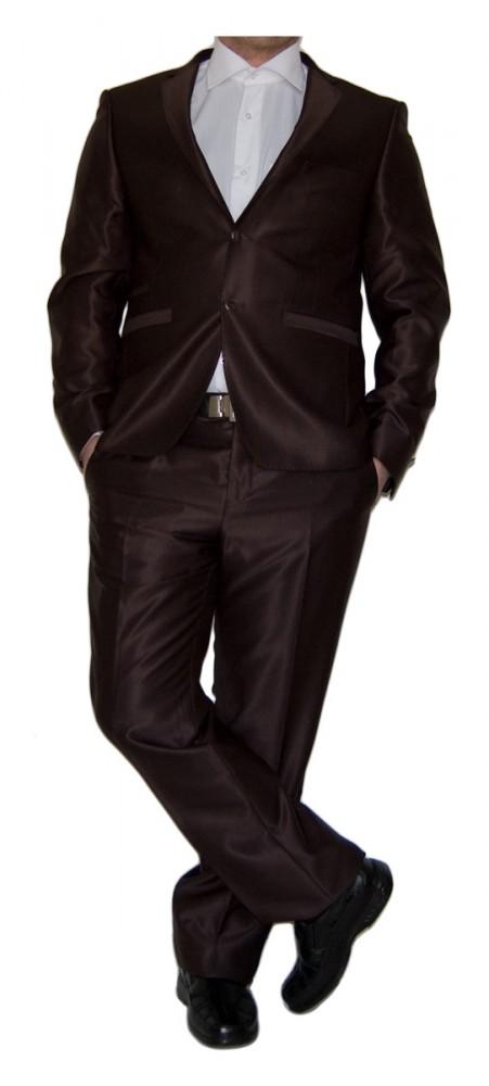 new style 1cbb0 a5720 Designer Herren Anzug tailliert Herrenanzug mit Wolle Hochzeitsanzug Sakko  mit Hose Glanz Schwarz Braun Silber