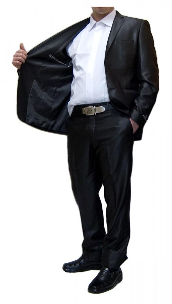 694d7e7b1249ea Designer Herren Anzug tailliert Herrenanzug mit Wolle Hochzeitsanzug Sakko  mit Hose Glanz Schwarz Braun Silber –