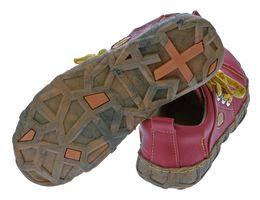 Damen Leder Schuhe Comfort Sneakers Turnschuhe Grün Schwarz Rot Ziernähte Gelb TMA Eyes – Bild 10