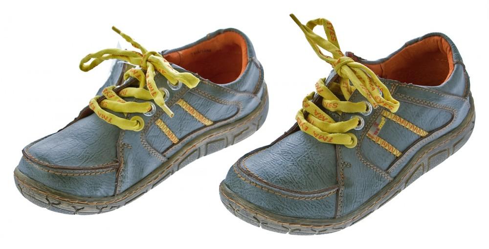 Leder Damen Halb Schuhe TMA Eyes Comfort Sneakers Used Look Sky Blau Turnschuhe Gr. 37 5NhsPAbF6T
