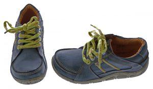Leder Damen Halb Schuhe Comfort Sneakers Used Look Grün Blau Rot Turnschuhe TMA Eyes – Bild 6